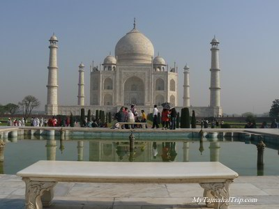Taj mahal-royal bench