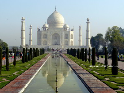 Taj Mahal - front view in the morning